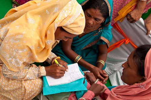 Local women attend the gram sabha, or village assembly meeting, in Barrod village of Rajasthan's Alwar district on 5 October 2012 | by UN Women Gallery
