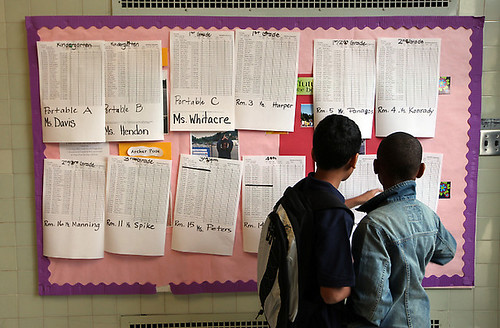 Class lists at Burckhalter Elementary | by Contra Costa Times