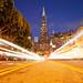 Unnatural High (Transamerica Pyramid Light Trails), San Francisco