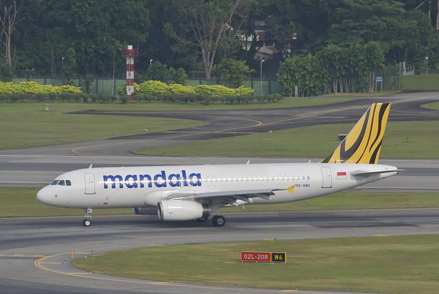 Mandala Airlines Airbus A320-232; PK-RMO@SIN;02.08.2012/668ca