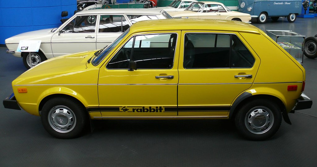 Vw Volkswagen Rabbit Golf Us 1975 Yellow Lo Stkone Flickr
