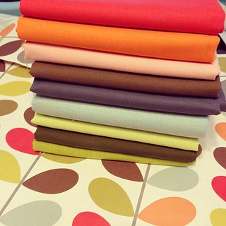 Solids chosen...now to add prints! #quilting #orlakiely | by vintagemodernquilts | lisa