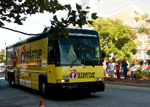 Here comes the bus | by Merrick School of Business