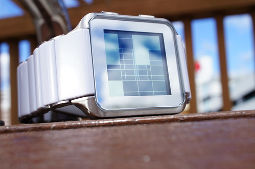Kisai Logo Acetate & Stainless Steel LCD Watch Design from Tokyoflash Japan | by Tokyoflash Japan