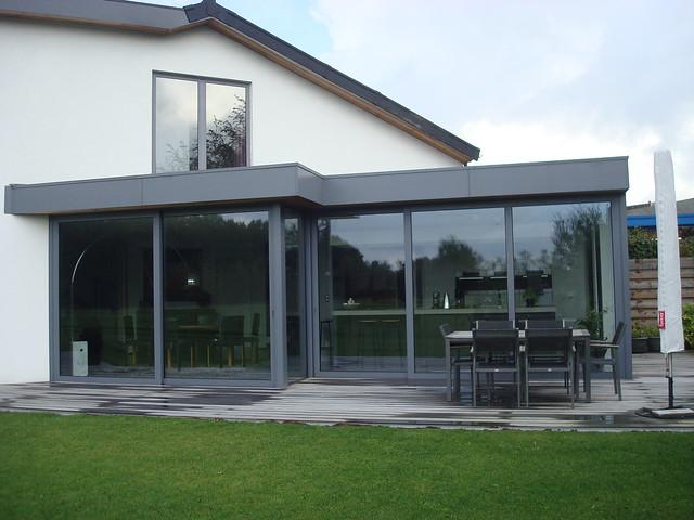 Moderne uitbouw aluminium veranda modern flickr photo sharing - Veranda modern huis ...