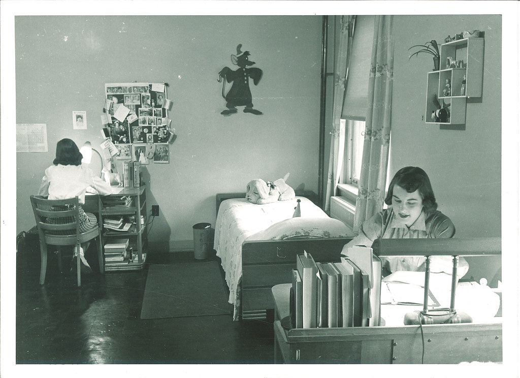 ... Student Dorm Room In Currier Hall, The University Of Iowa, 1950s | By  The Part 79