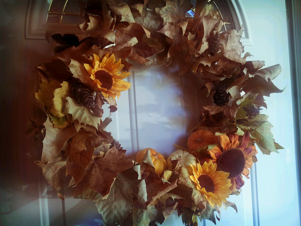 Fall wreath straw form from michael s leaves