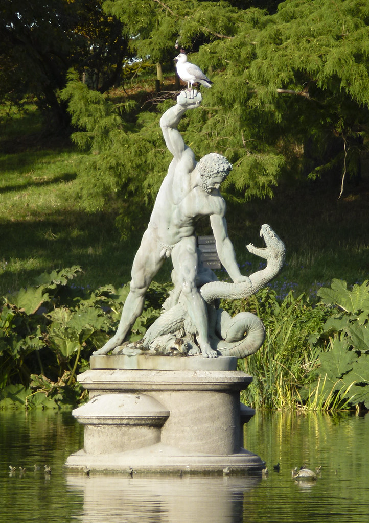 Hercules wrestling the river god Achelous | This statue ... Achelous River God