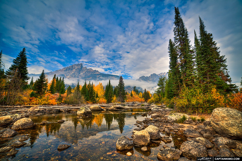 Creek-with-Mountain-at-Grand-Teton-National-Park-Wyoming