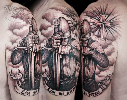 Templar Knight Custom Tattoo Miguel Angel Custom Tattoo Ar Flickr