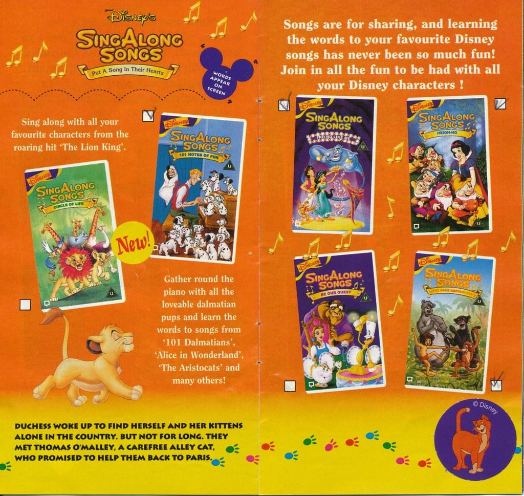 disney vhs catalogue 1995 page 07 uk disney videos