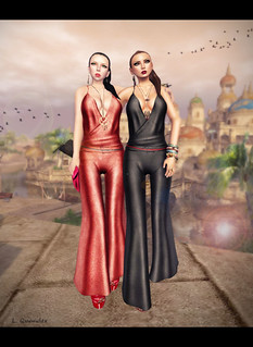 Suri and Lila Baiastice_Vienna Mesh Jumpsuit-black by Sissy Pessoa | by Lila Quander