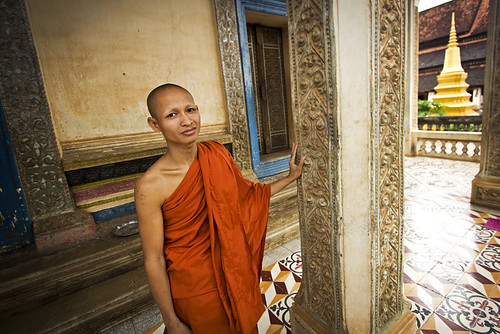 a monk at Wat Bo. | by DominicStafford.