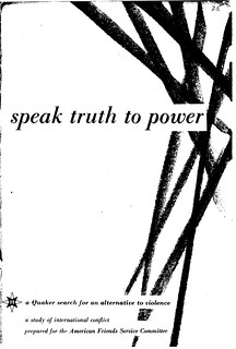 "1955: Published ""Speak Truth to Power"" in midst of McCarthy era 
