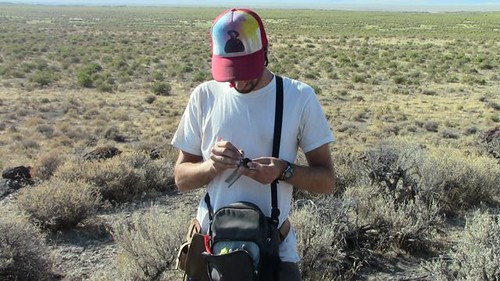 Collecting data for paleomagnetic analysis (September 4, 2012) | by Surprise Valley UAS