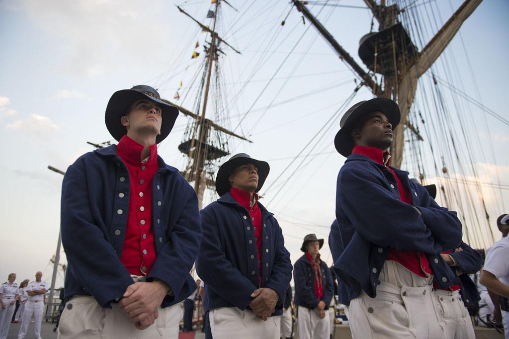 Coast Guardsmen Wear Traditional U S Revenue Cutter Servi
