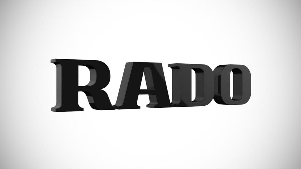 Rado Logo Rado 3d Brand Logo