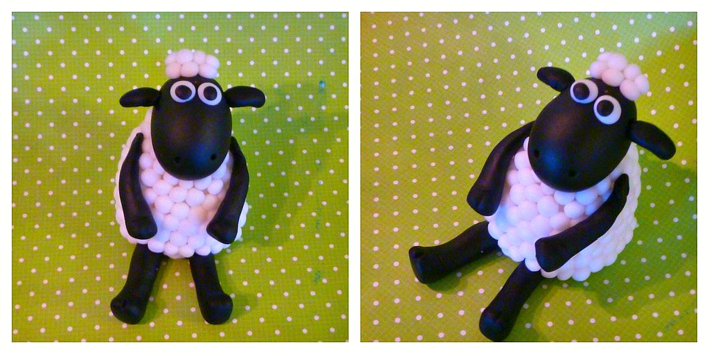 Shaun the sheep cake topper | This is supposed to be Shaun ...