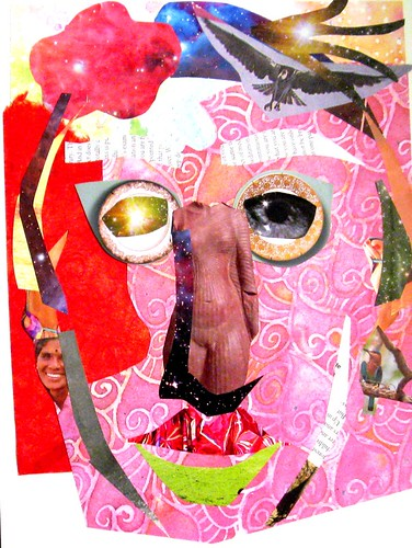 Torn Paper Face Collage | by Donna Mulholland