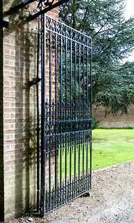 Stoneleigh abbey, Warwickshire, entry gate, detail | by groenling