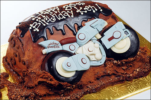 How To Make A D Motorcycle Cake