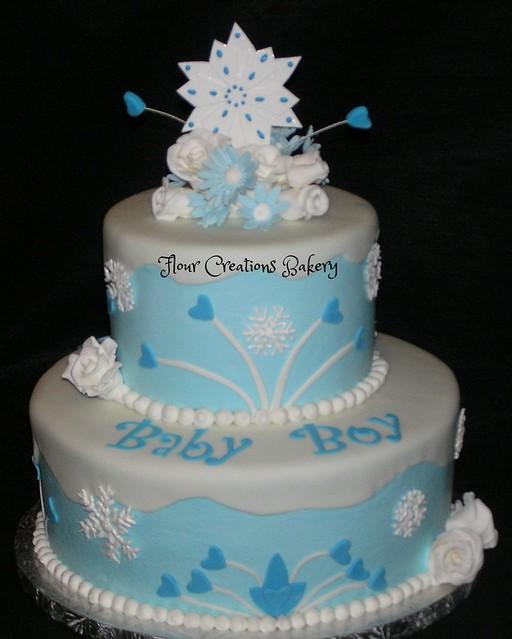 winter wonderland baby shower cake flickr photo sharing