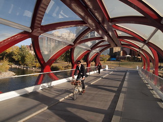 Classy suit on aclassy bike on a classy bridge | by Calgary Cycle Chic