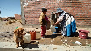 A public faucet that serves 1000 families in el Alto, Bolivia | by World Bank Photo Collection