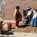 A public faucet that serves 1000 families in el Alto, Bolivia