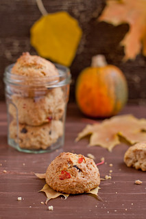 Pumpkin chocolate cherry cookies | by Kate Morozova