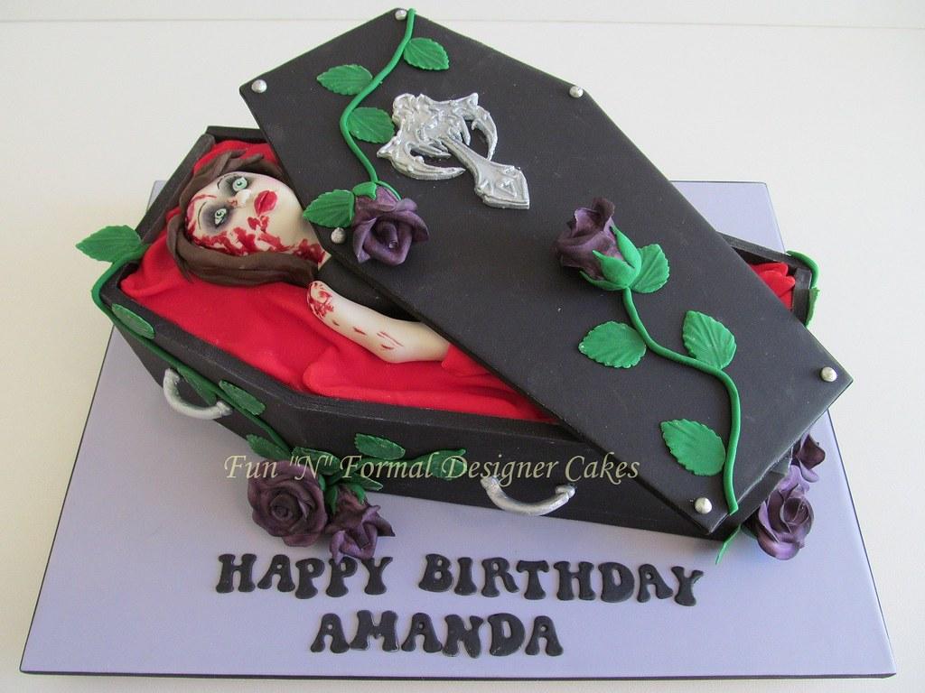 Vampireliving Dead Themed Birthday Cake Melissa Woodward Flickr