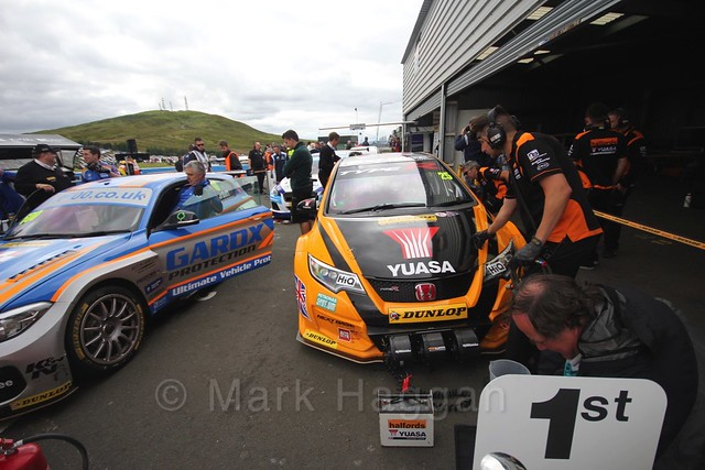 BTCC race 2 during the Knockhill Weekend 2016