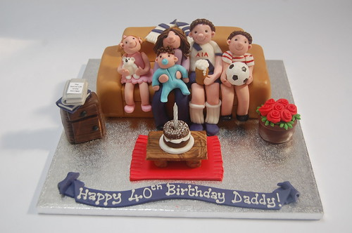 Just a brilliant way of combining people dear to you with things dear to them! The Family Sofa Cake - from £70.