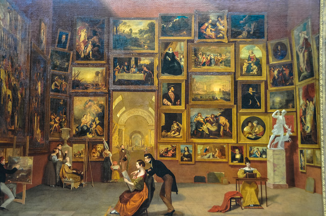 Samuel F.B. Morse - Gallery of the Louvre, 1833 at ...
