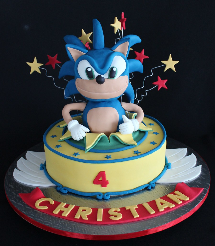 Sonic The Hedgehog Birthday Cake Christian S 4th