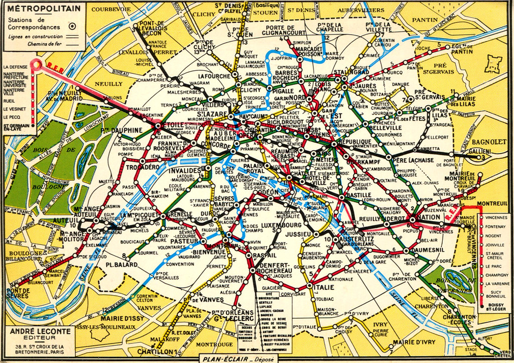 paris mtro map 1973 by roger4336