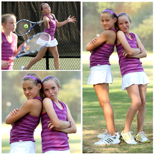 Kirsten and Emily Tennis Collage | by Richard Wayne Photography