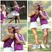 Kirsten and Emily Tennis Collage