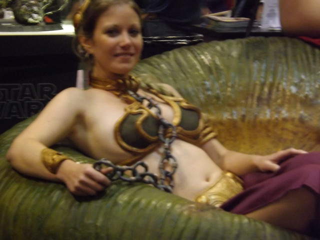 - STAR WARS CELEBRATION V - Slave Leia  amp  Jabba - Flickr --- PicturesOola And Leia Submit To Jabba