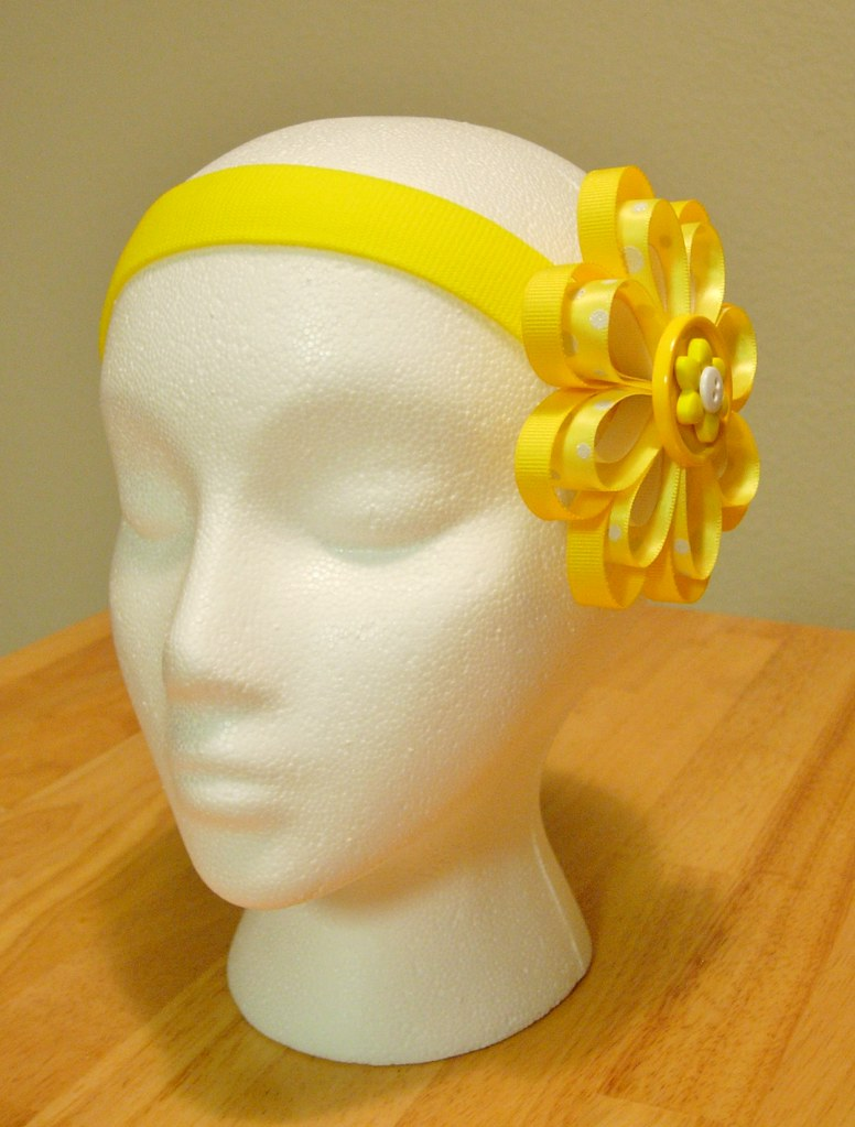 Yellow And White Ribbon Flower Headband You Can Visit My E Flickr