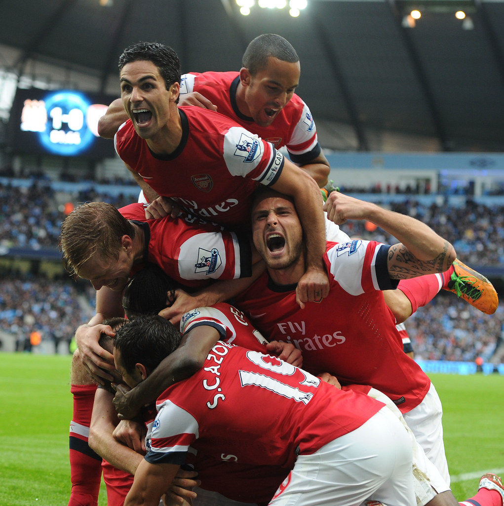 Laurent Koscielny goal Laurent Koscielny celebrates scorin…
