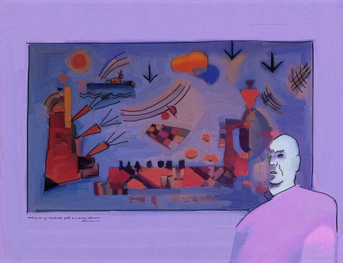 looking at my kandinsky poster on a sunny afternoon | by patricio villarroel bórquez