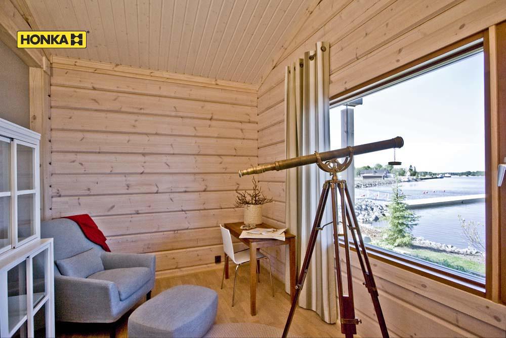Honka baie vitr e avec longue vue honka maison bois flickr - Maison avec baie vitree ...