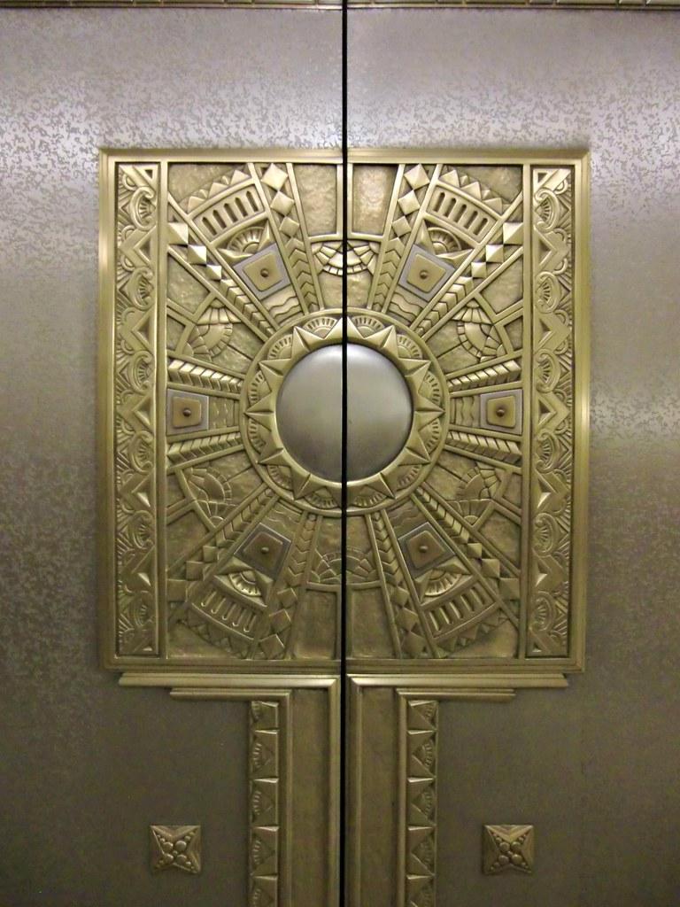 Ohio Sc Interior Basement Elevator Door Art Deco