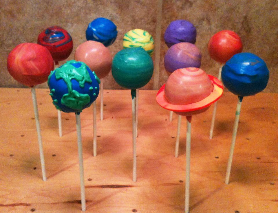 Science Themed Cake Pops