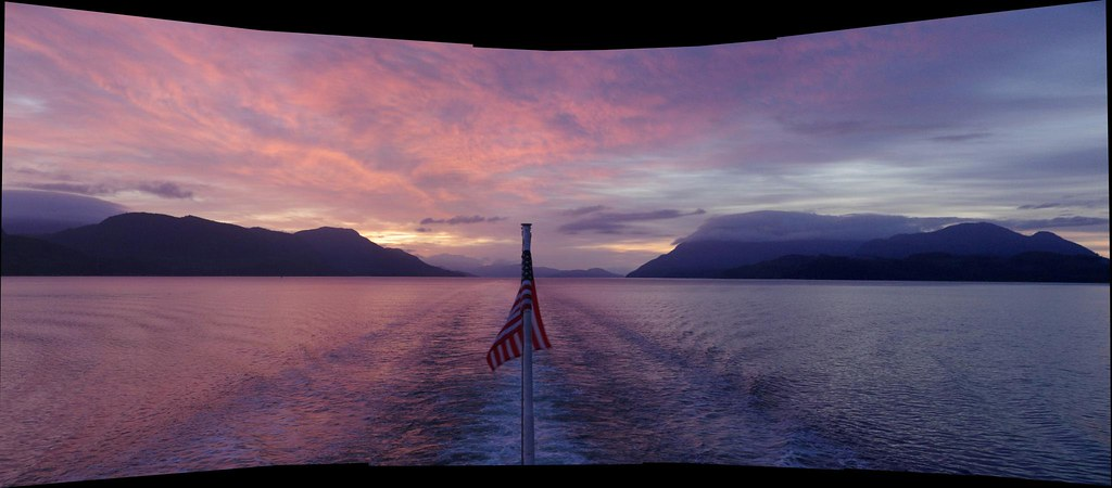 Alaska >> Panorama Sunrise over Alaska Inside Passage - Alaska Marin… | Flickr