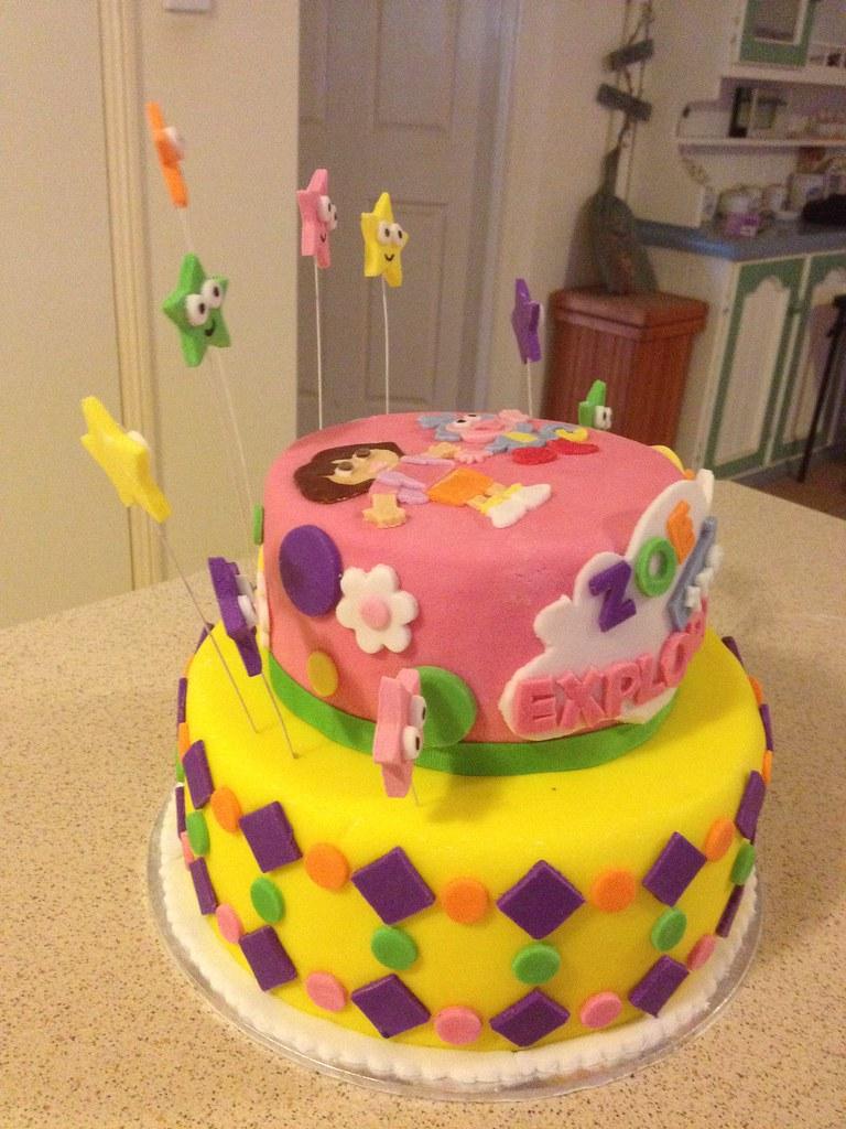 Dora The Exploer Zoe The Explorer Birthday Cake Dora The Flickr