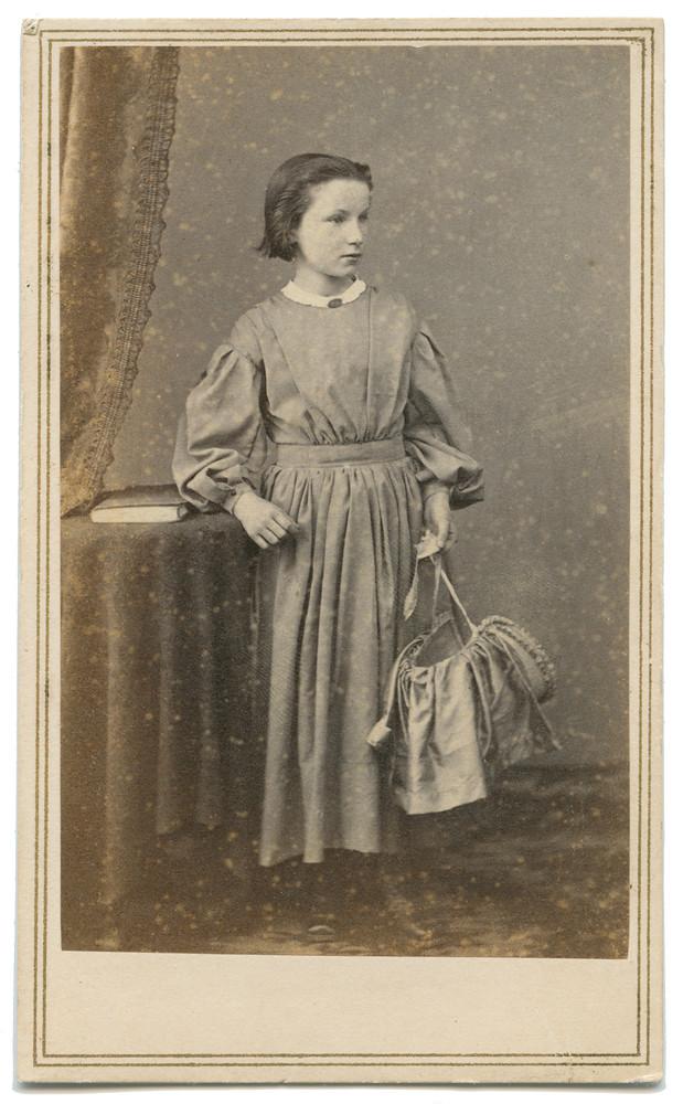 Carte De Visite Of Girl Holding Basket
