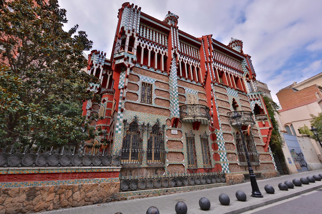 Gaudi's Casa Vicens, Barcelona, Spain