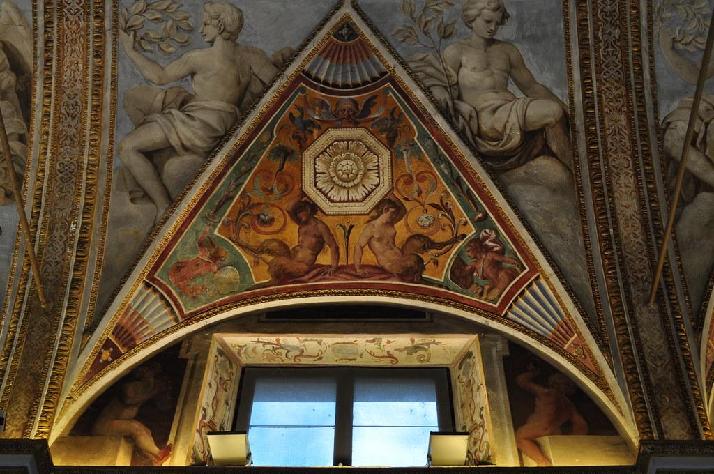 Galleria degli Specchi, Corte Vecchia, Palais ducal, Mantoue, province de Mantoue, Lombardie, Italie.